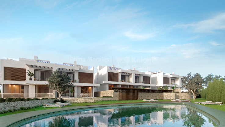 Marbella East, Semi-detached villa under construction in a small development, Golf Cabopino
