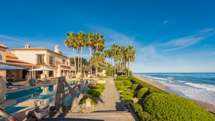 Los Monteros, Imposing Beachfront Villa in Sought After Location