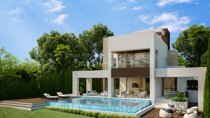 Marbella Centro, Contemporary villa in gated community with security