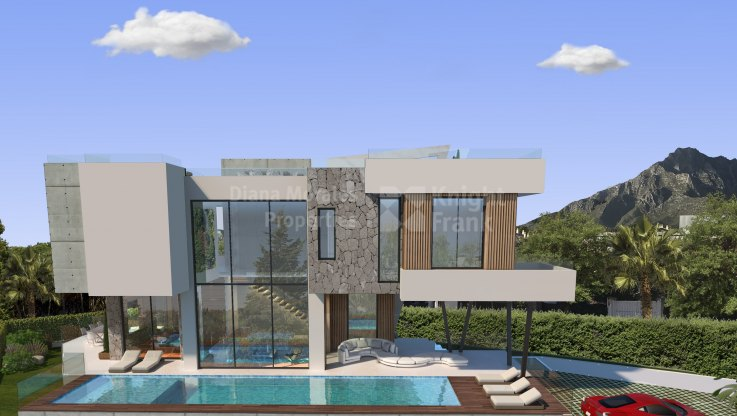 Casablanca, Design for a villa under construction just a short walk from the beach
