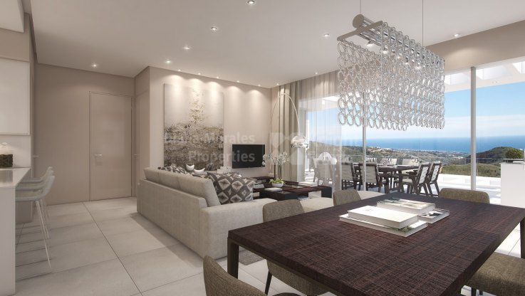 Ojen, East facing penthouse in gated community
