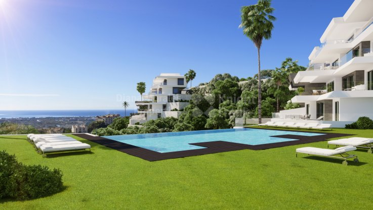 Las Colinas de Marbella, Stunning views, ground floor apartment with private pool