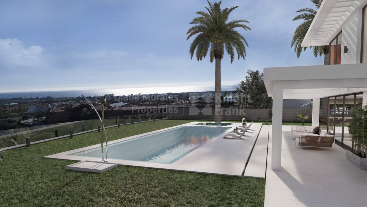 Villa under construction in Los Flamingos with sea views - Villa for sale in Los Flamingos, Benahavis