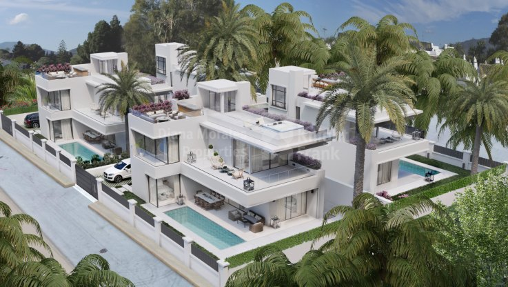 Marbella Golden Mile, Under construction villa walking distance to Puerto Banús
