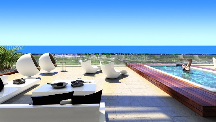 Puerto del Almendro, Spacious terrace with sea views