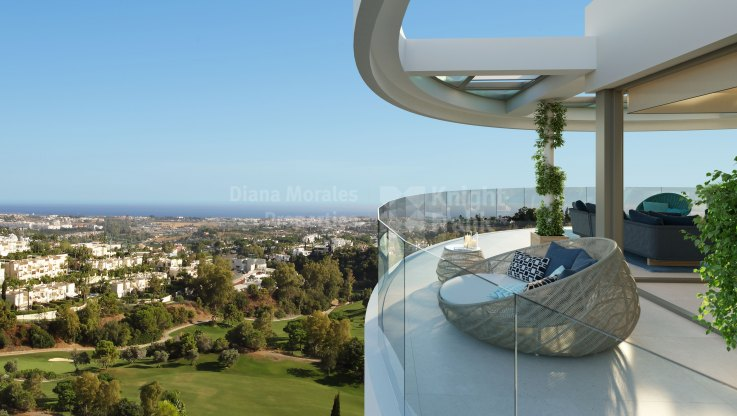 Benahavis, Beautiful duplex penthouse under construction with fantastic views
