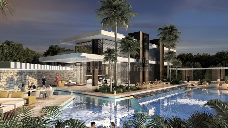 Beautiful project for a magnificent villa on the Golden Mile - Villa for sale in Las Lomas del Marbella Club, Marbella Golden Mile