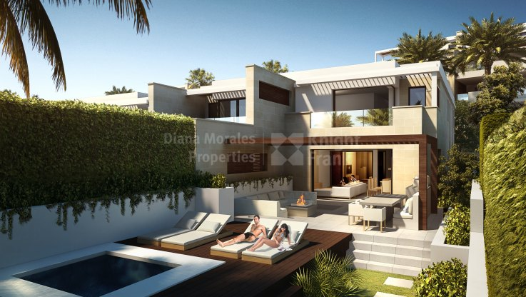 New Golden Mile, Spectacular semi-detached villa under construction on the seafront