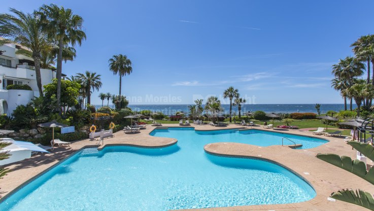 Ventura del Mar, Garden apartment right on the sea next to Puerto Banus