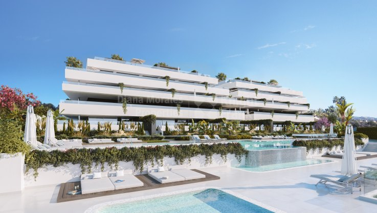 Apartment under construction with private garden - Ground Floor Apartment for sale in El Campanario Hills, Estepona