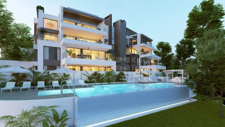 Aqualina - Exquisite complex with sea views in the hills of Marbella, Benahavis