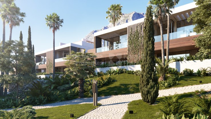 Modern villa on the slopes of Sierra Blanca - Semi Detached Villa for sale in Balcones de Sierra Blanca, Marbella Golden Mile