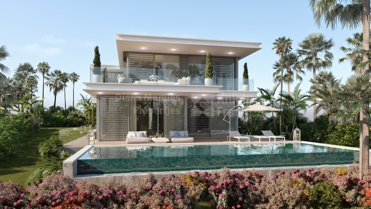 Contemporary villa with sea and golf views - Villa for sale in Cabopino, Marbella East