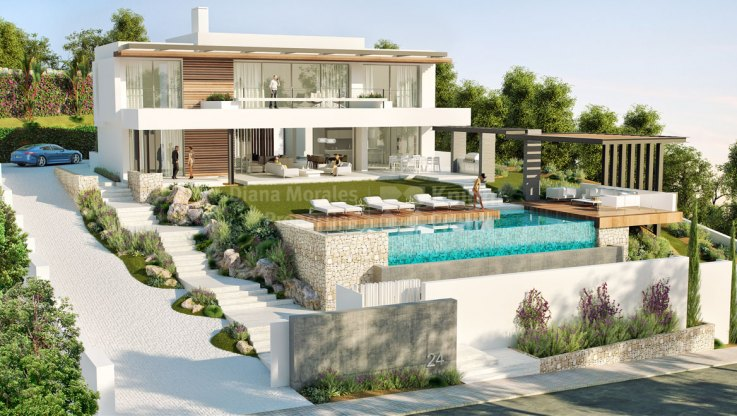 Contemporary Villa in Los Flamingos Golf - Villa for sale in Capanes Sur, Benahavis