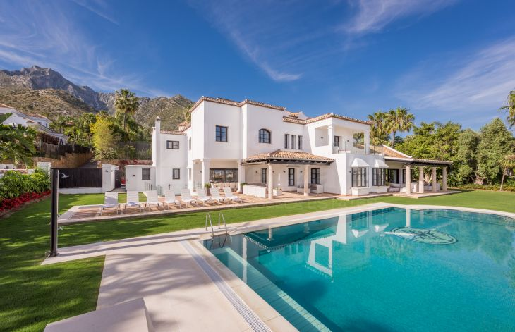 In Sierra Blanca, Marbella, stunning villa with panoramic views