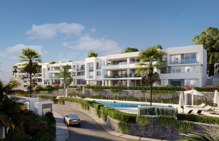 Complex of independent and semi-detached villas an apartments in Marbella East