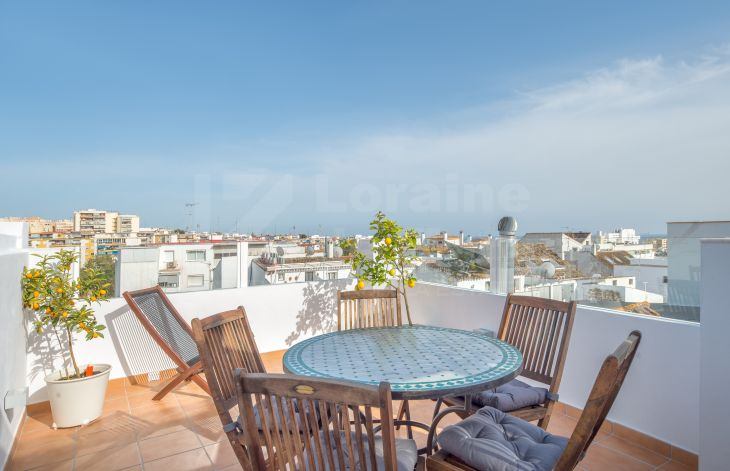 Large 2 bedroom house renovated in the old town of Marbella