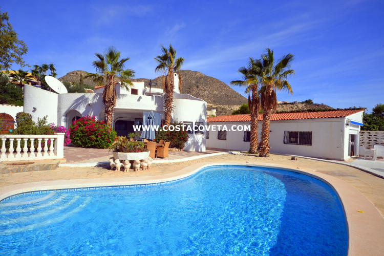 El Campello, Ibiza style property consisting of 2 independent houses with pool in la Coveta Fuma