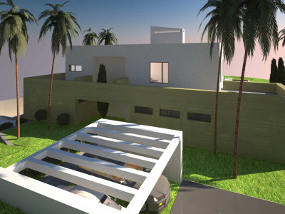 Plot and Project with fabulous panoramic views - Sotogrande Villa