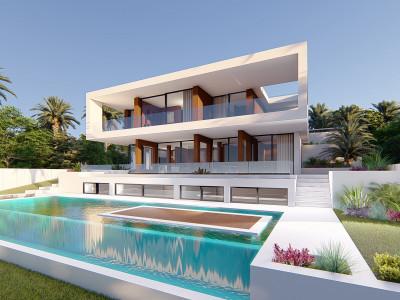 New contemporary style villa project for sale in Estepona