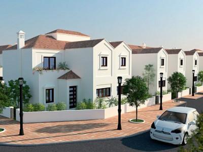 Off plan golf townhouses for sale in Mijas Costa – La Cala de Mijas – Costa del Sol