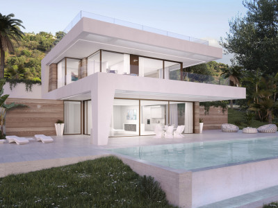 New front line golf contemporary villas for sale on the New Golden Mile Estepona