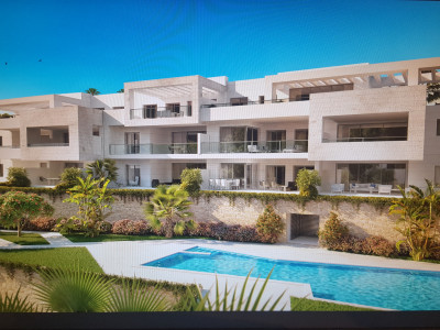 New modern contemporary frontline golf off plan development in Casares
