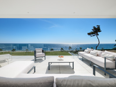 Stunning first line beach modern apartment for sale on the New Golden Mile in Estepona