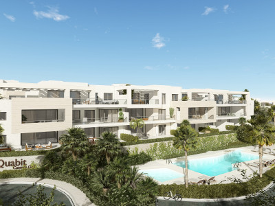 New modern first line golf off plan development of apartments and penthouses in Casares Golf