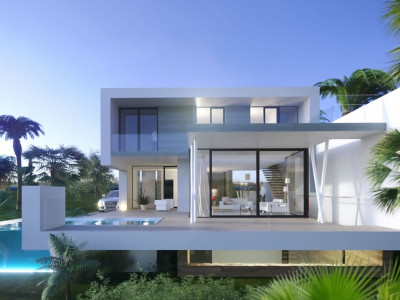 New project of modern style first line golf villas on the New Golden Mile in Estepona