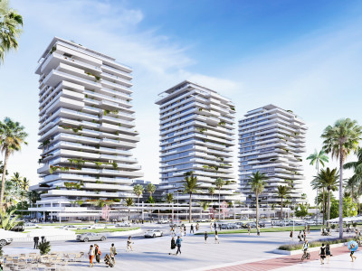 New modern luxury apartments  for sale, first line to the beach promenade in Malaga city