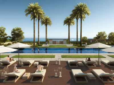 Off plan first line beach modern apartments and penthouses for sale on the New Golden Mile in Estepona