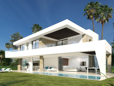 New front line golf complex of contemporary villas for sale on the New Golden Mile Estepona