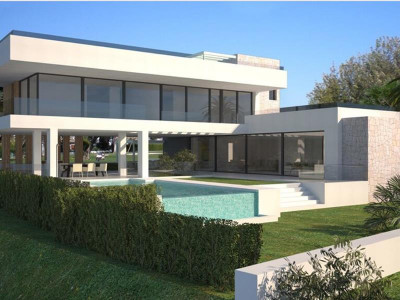 Benahavis, New contemporary villa for sale in Benahavis with views to the Mediterranean coastline