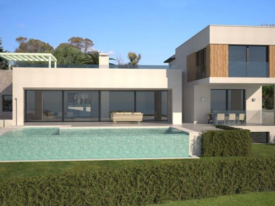 Benahavis, New contemporary villa for sale in Benahavis with almost 360-degree panoramic sea views