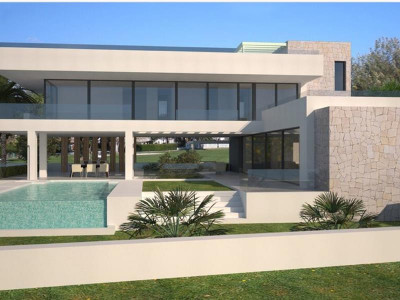 Benahavis, New contemporary villa for sale in Benahavis with panoramic views of the golf courses