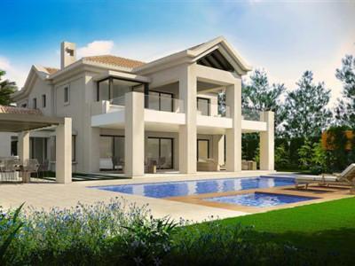 Marbella Golden Mile, New contemporary villa in the Marbella Golden Mile in a very exlcusive beachside complex