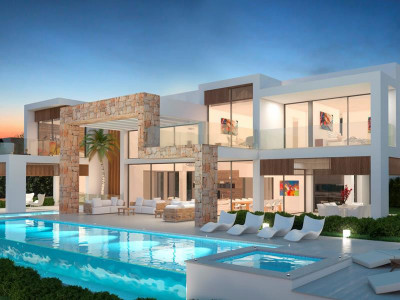 Nueva Andalucia, Brand New Contemporary villa for sale in the Nueva Andalucia Golf Valley