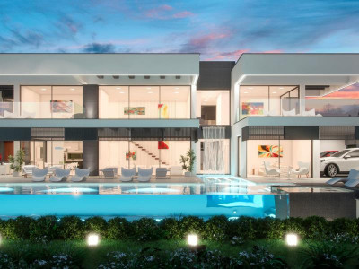 Nueva Andalucia, Brand new contemporary golf villa for sale in the heart of the Nueva Andalucia