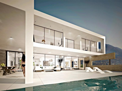 Marbella, Brand new villa for sale in La Mairena in Marbella east with excellent qualites throughout