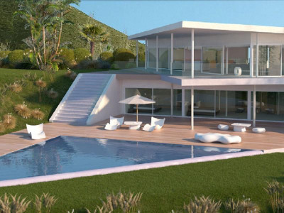 Benalmadena, Contemporary new villa for sale in Reserve del Higeuron in Benalmadena with stunning sea views