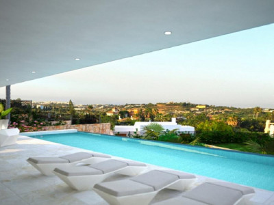 Nueva Andalucia, Quality new contemporary style villa for sale in the Nueva Andalucia Golf Valley