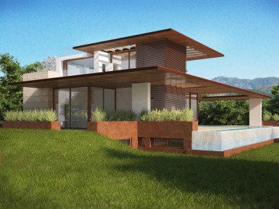 Marbella Golden Mile, Under contruction modern contemporary villa for sale in the Marbella Golden Mile