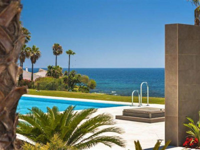 Estepona, New front line beach apartment for sale in Estepona with stunning sea views