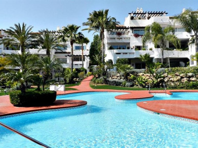Marbella - Puerto Banus, Contemporary Andalucian style apartment for sale within walking distance to Puerto Banus