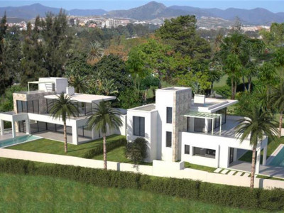 San Pedro de Alcantara, Brand new contemporary villa for sale in Guadalmina a short walk from the beach