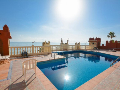 Benalmadena, Unique beach front villa for sale in Benalmadena just 10 minutes from Malaga airport