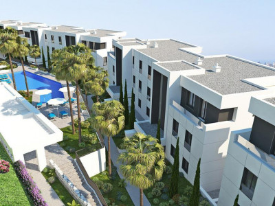 Marbella, New project of contemporary apartments for sale in Nueva Andalucia behind Puerto Banus