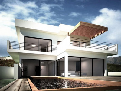 Mijas Costa, New frontline golf villa for sale in a sought after urbanisation in Mijas Costa