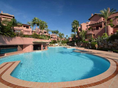 Estepona, Frontline beach garden apartment for sale in the New golden Mile in Estepona
